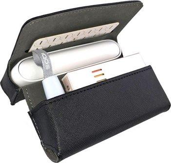 Etui KL schwarz für IQOS 3 + Pocket Charger + Heets + Heat-