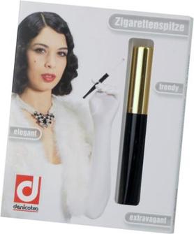 DENICOTEA Zigarettenspitze Automatic gold/schwarz L