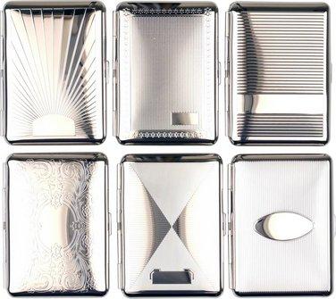 Zigarettenetui JEAN CLAUDE nickel/Dekore sortiert 14er