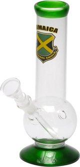 """Bong Glas """"Country Jamaica"""" ger. bauchig 21cm, Ø40mm, 14.5er"""