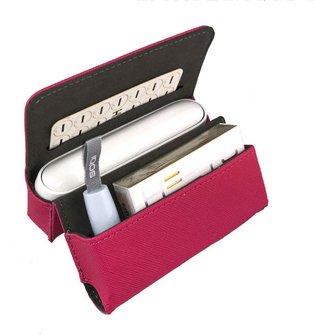 Etui KL pink für IQOS 3 + Pocket Charger + Heets + Heat-