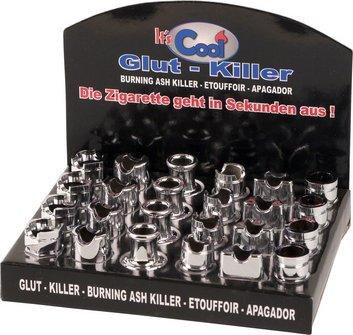 Glut-Killer chrom offen sortierte Modelle