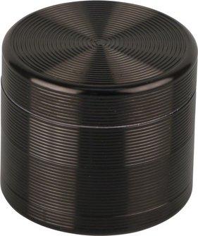 """Grinder Metall """"Rillen"""" 4tlg. schwarz  Durchm.55mm/H47mm"""