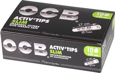 "OCB Aktivkohlefilter ""Activ'Tips Slim"" 7mm Inhalt 50 Filter"