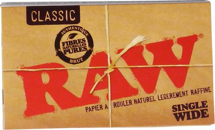 RAW Classic Single Wide 100 Zigarettenpapier je 25