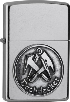 "Org.ZIPPO street chrom Emblem ""Dachdecker"" 2006324"
