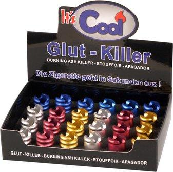 """Glutkiller """"Alu"""" bunt offen sortiert mit Zigarettenablage"""