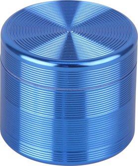 """Grinder Metall """"Rillen"""" 4tlg. blau  Durchmesser 55mm/H47mm"""
