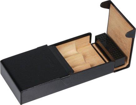 CREDO Cigarren-Etui Kalbsleder schwarz 3er