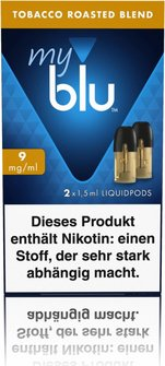 myblu Podpack 1,5ml Tabacco 9mg/ml Nikotin DE 2er Pack