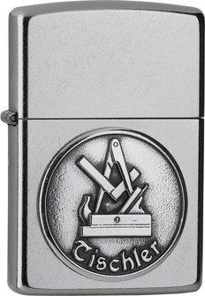"""Org.ZIPPO street chrom emblem """"Tischler"""" 2006326"""