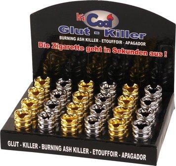 Glutkiller rund/Rillen offen chr.+gol