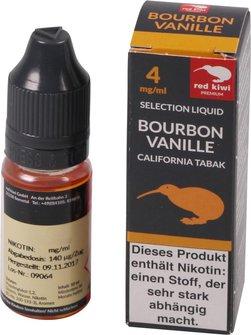 red kiwi Selection Liquid BourbonVanille/California Low 10ml
