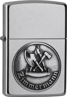 "Org.ZIPPO street chrom Emblem ""Zimmermann"" 2006328"