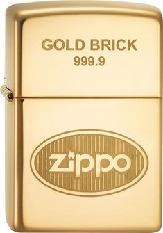"Org.ZIPPO ms. pol. Zippo Logo ""Gold Brick"" 60001363"