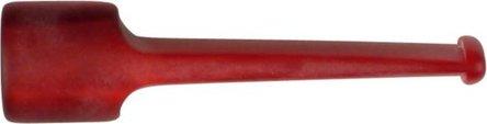 Mundstück für Pfeife Acryl mit Sattel rot marmoriert