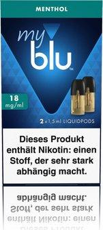 myblu Podpack 1,5ml Menthol 18mg/ml Nikotin DE 2er Pack