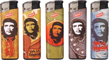 "PF Fix-Flame-Piezo-Feuerzeug ""Che Guevara"" sortiert"