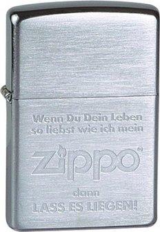 """Org.ZIPPO gr.""""Wenn du dein Leben"""" 60001328"""