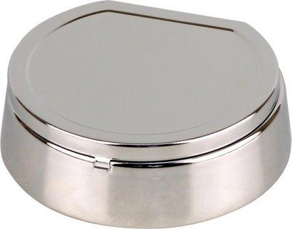 Coney Sternascher mit Deckel chrom poliert 13cm