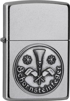 """Org.ZIPPO street chrom Emblem """"Schornsteinfeger"""" 2006332"""
