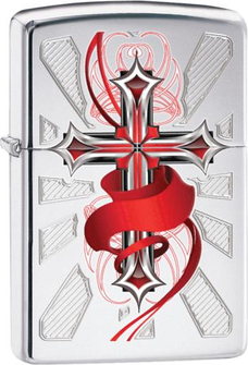 """Org.ZIPPO cr. pol. color """"Cross with Wing"""" 60001292"""