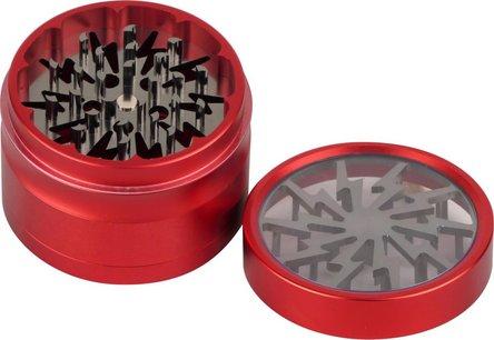 """Grinder Metall """"Wheel"""" 4tlg. rot/gun  Durchmesser 63mm/H47mm"""