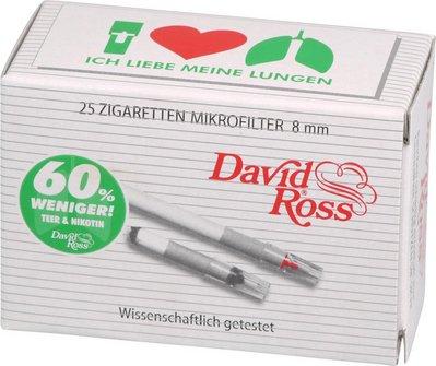 David Ross Minifilter 8mm Sparpack Inh. 25 Minifilter