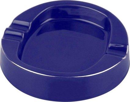 Cigarrenascher Keramik blau glänzend