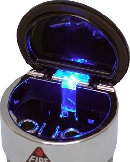 Ascher für Auto-Dosenhalter mit buntem Deckel u. LED Leuchte