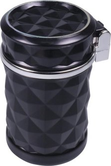 Ascher für Auto-Dosenhalter schwarz mit LED Leuchte