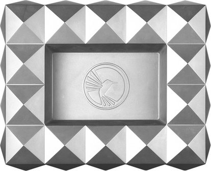 "COLIBRI Cigarrenascher Metall ""Quasar""silber metallic 6 Abl."