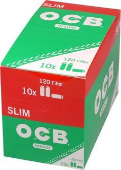 "OCB Drehfilter ""Slim Menthol"" Inhalt 120 Filter"