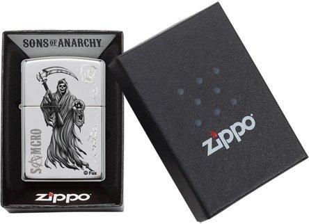 """Org.ZIPPO chrom poliert grav./col. """"SOA Reaper"""" 60000883"""