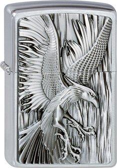 "Org.ZIPPO cr.geb. Plakette  ""Phoenix on fire"" 2002724"
