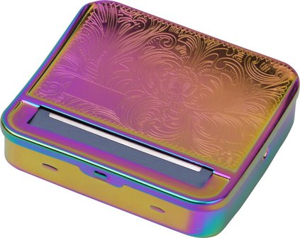 "Zigarettenrollbox aus Metall ""Ornament"" Rainbow Finish"