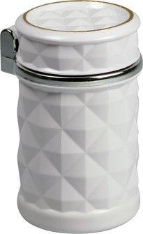 Ascher für Auto-Dosenhalter weiß mit LED Leuchte