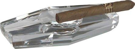 Cigarrenascher Kristallglas/Raute 2 Ablagen
