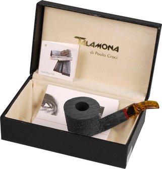 "TALAMONA Freehand Pfeife""Rock Fossil""m.Filter Acrylmundstück"