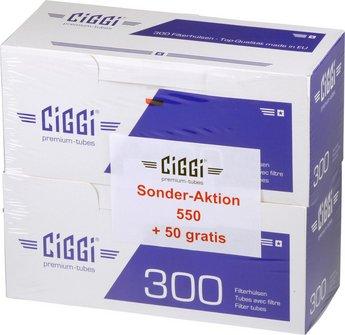 "CIGGI ""550 + 50"" Zigaretten-Hülsen"