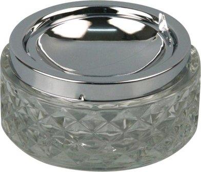 Kippascher chrom/Glas transparent   11cm