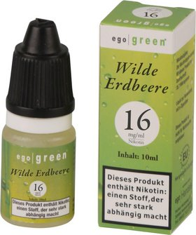 Liquid ego green Wilde Erdbeere 16mg Nikotin 10ml