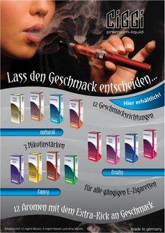 CIGGI Premium-Liquid Poster DIN A4