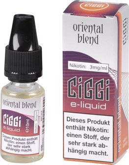 CIGGI Liquid Oriental Blend 3mg/ml Nikotin 10 ml