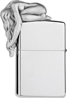 """Org.ZIPPO chrom poliert Emblem """"3D Act Woman"""" 2005926"""