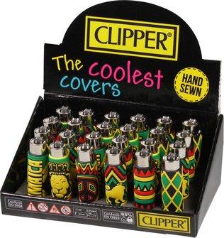 "Clipper Mehrweg-Feuerzeug Pop Cover ""Jamaica"" sortiert Sz"
