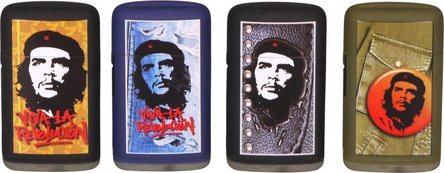 "PROF Turbo-Feuerzeug ""Che Guevara"" mit blauer Flamme sort."