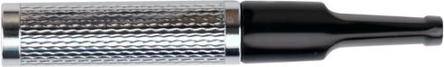 DENICOTEA Zigarettenspitze 6mm Filter silber guillochiert