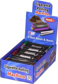 ATOMIC Zigarettenroller 70mm transparent sortiert