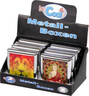 Zigarettenetui Metall verschiedene Designs sortiert  20er